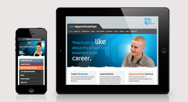 Website design and development for Like Apprenticeships
