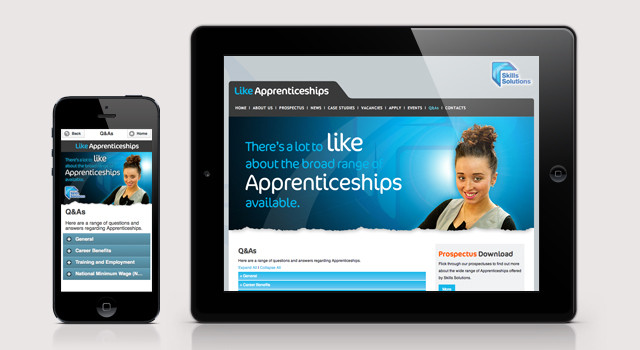 Like Apprenticeships Website Design