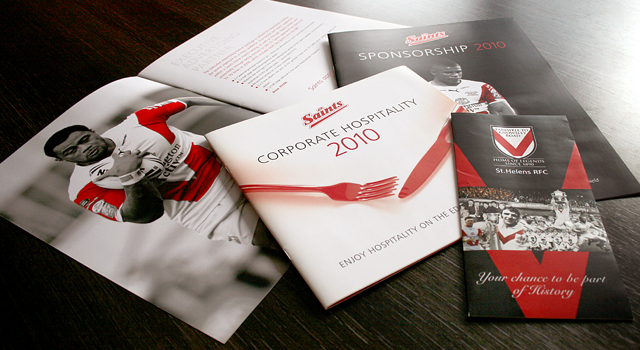 St Helens RLFC corporate brochure designs