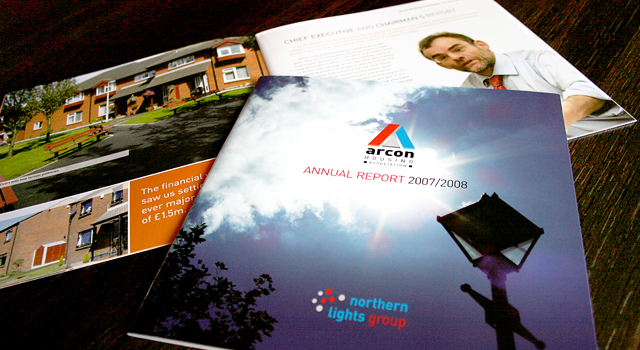 Arcon Housing Association corporate literature design