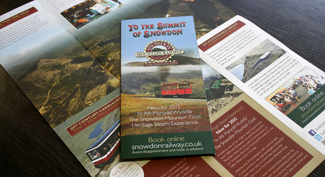 Snowdon Mountain Railway corporate literature design