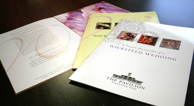 Wicksteed Park Weddings Brochure Design