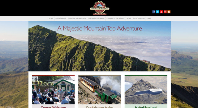 Website design and development for Snowdon Mountain Railway