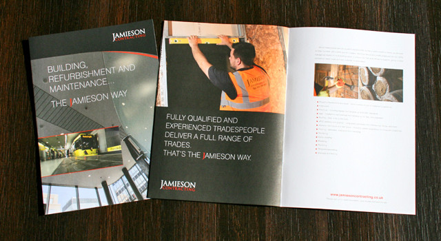 Jamieson Contracting corporate brochure