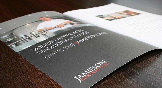 Design and Print of Jamieson Contracting brochure