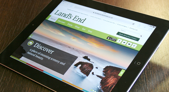 Ecommerce website design and development for Land's End Landmark