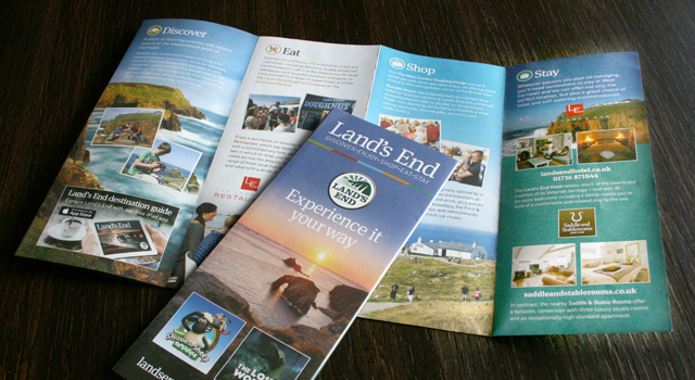 Land's End Landmark corporate literature design