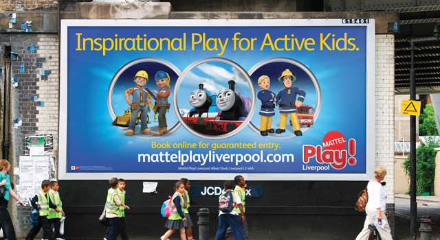Mattel Play! Liverpool, corporate literature design