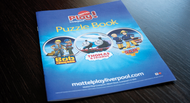 Mattel Play Puzzle Book